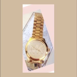 Michael Kors unstoppable gold sparkle watch